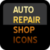 Auto-Repair-Shop-Icon-in-yellow-red-on-black-background