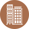 Business-building-place-on-brown-circul-Icon