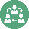 Management-Business-network-chat-cycle-green-circul-Icon